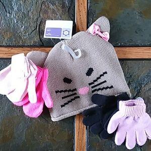 Hat & Gloves/Mittens Bundle